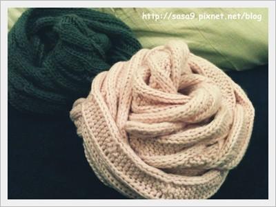 麻花圍巾-2