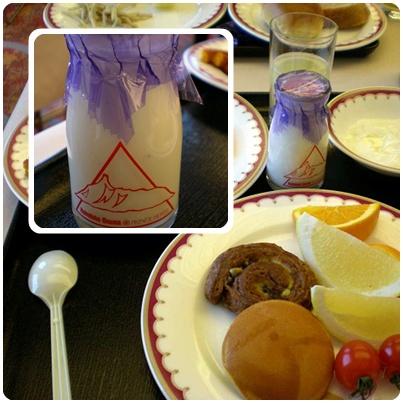 大沼王子大飯店早餐的自製牛奶很好喝喔~