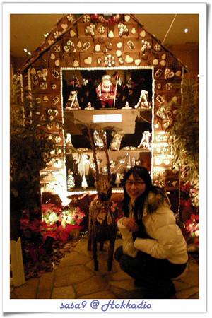 希爾頓飯店有很大的薑餅屋裝飾聖誕節