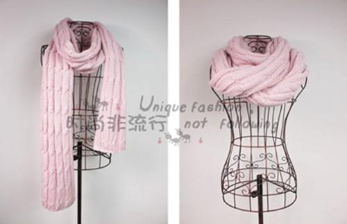麻花圍巾-3
