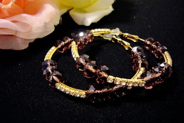 紫水晶大耳環