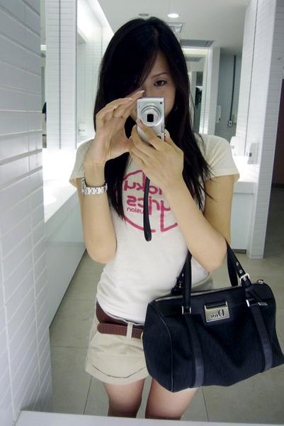 你陪我去買的 T-shirt 和短褲 ♥