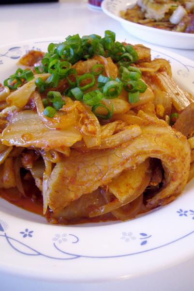 kimchi pork belly