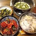 上海菜飯、養生紅麴燒肉、炒剝皮辣椒、鮮魚湯