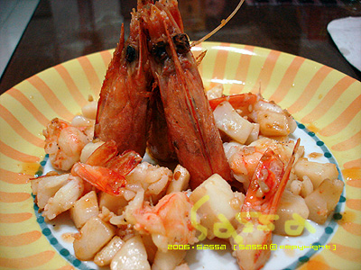 干貝燒明蝦
