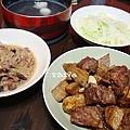 芋燒排骨、蘿蔔絲、高麗菜、魚丸湯