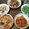 味增龍鬚、滷菜、蔭蚵豆腐、魚香茄子、醋滷雞翅、大骨魚頭冬瓜蛤利豆腐湯