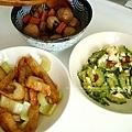 旗魚黑輪西洋芹、鹹蛋山苦瓜、魯貢丸、大黃瓜排骨湯