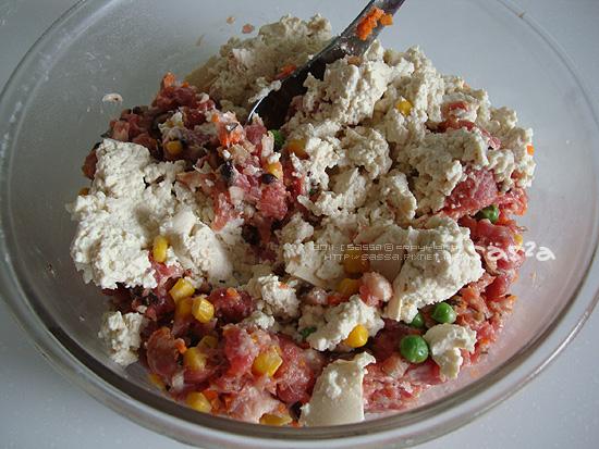 豆腐蔬菜肉餅