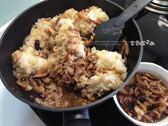 拌入糯米飯