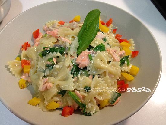 奶油鮭魚蝴蝶麵