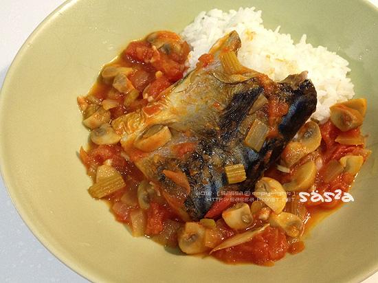 茄汁味增鯖魚飯