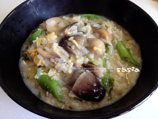 甜豆草菇粥