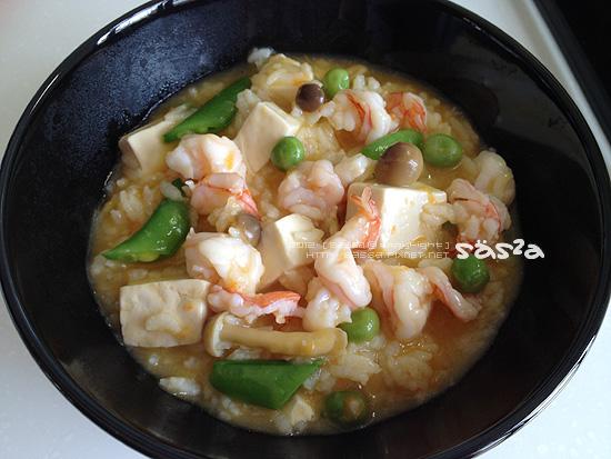 蟹黃鮮蝦豆腐粥(蝦膏湯)