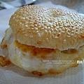 繼光餅。馬祖漢堡