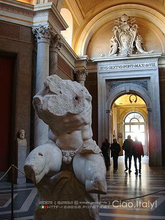 美景宮殘缺的雕像