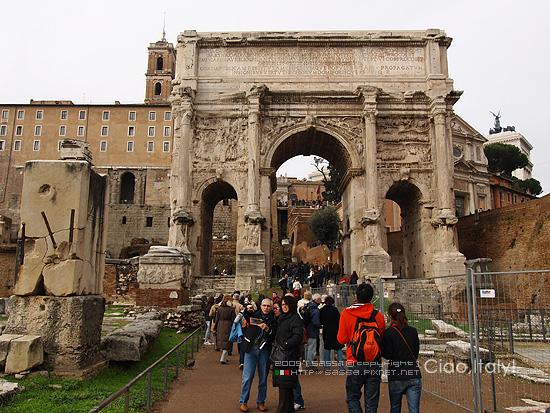 賽提密歐賽維羅凱旋門Arco di Settimio Severo