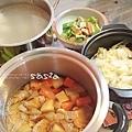 馬鈴署燉肉、豆鼓青椒、開陽白菜、蘿蔔排骨湯