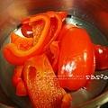 甜椒煮熟去皮