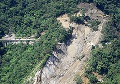蘇花公路坍方情形