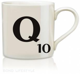 wild & wolf scrabble Q mug