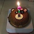準備了一個可愛的小熊蛋糕