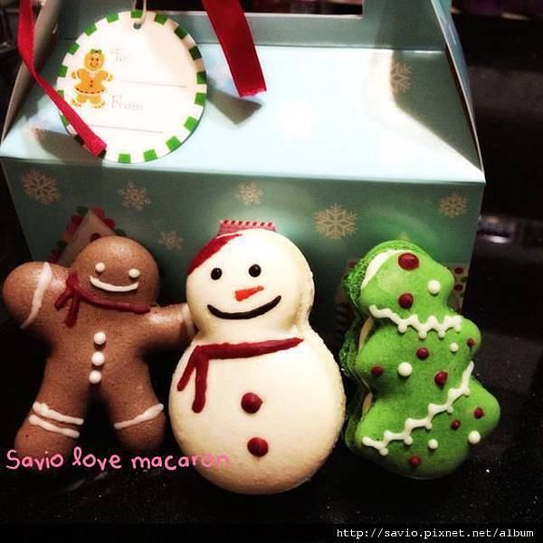 X'mas Macaron 聖誕節馬卡龍(雪人,薑餅人,聖誕樹)