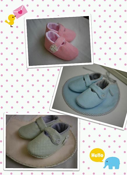 水玉嬰兒鞋