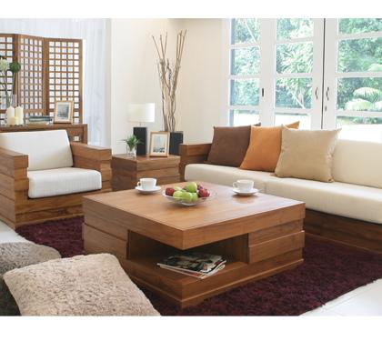 詩肯柚木客廳沙發