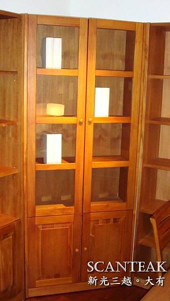 52122玻璃書櫃