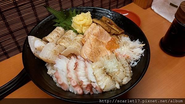 炙燒海鮮丼