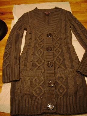 甜心媽送的長毛衣