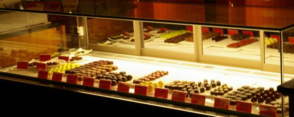 展示巧克力櫃