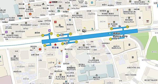 bus map chinese