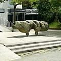 朱銘門口的雕塑