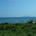 已經隱約可以看到龜山島
