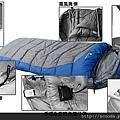 南極版睡袋細節