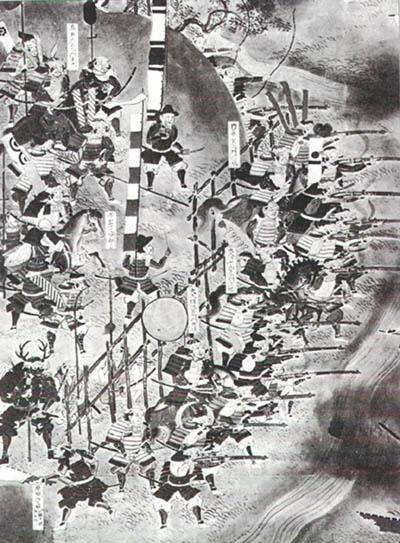 長篠合戰圖屏風(部份),東京‧德川黎明會所收。.jpg