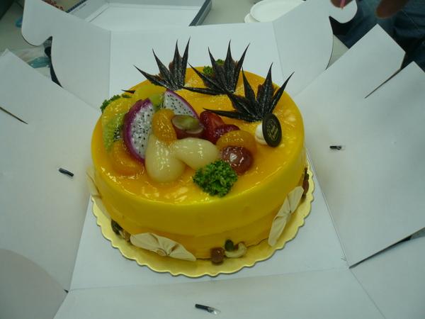 是芒果蛋糕喔!