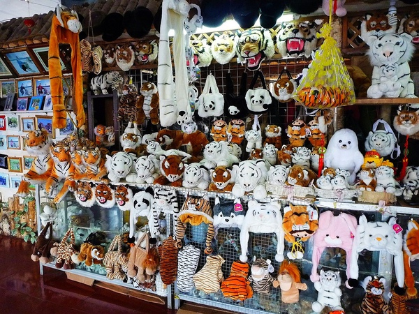 遊客中心有賣很多跟老虎相關的產品