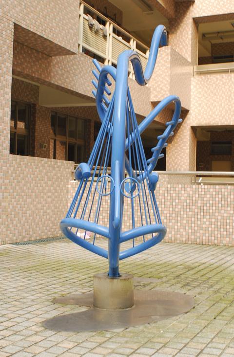 陳昌明  鱗鱗波光-魚型雕塑