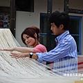 徐佳瑩,黃靖倫體驗手工麵線