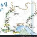 石碇八卦茶園-千島湖手繪地圖