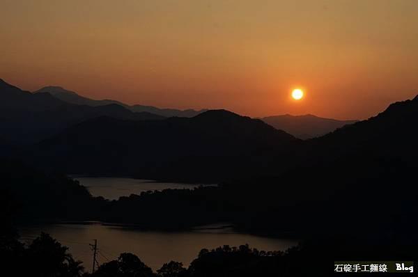 石碇八卦茶園,夕陽