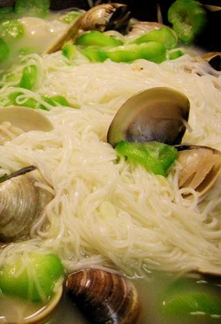 絲瓜蛤蜊麵線