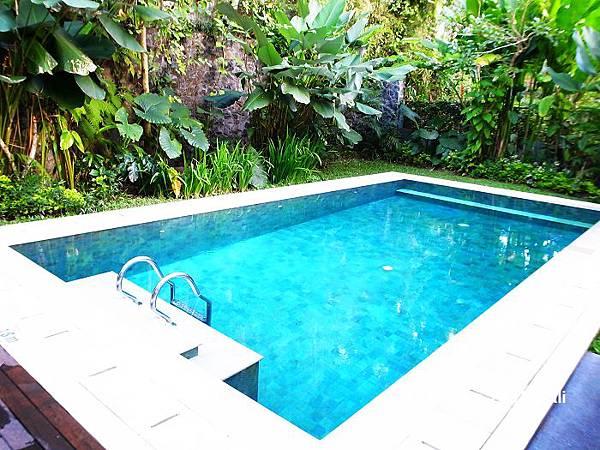 17一米八的泳池連我都會沒頂於是借了游泳圈