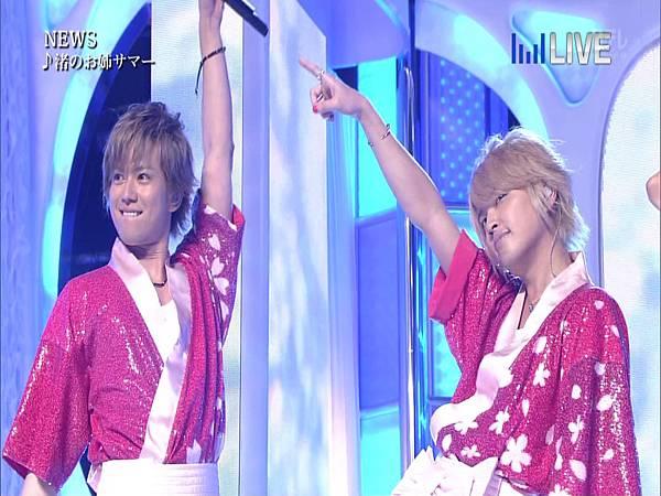 20130706THE MUSIC DAY 音楽のちから - NEWS「weeeek+渚のお姉サマー」01.JPG
