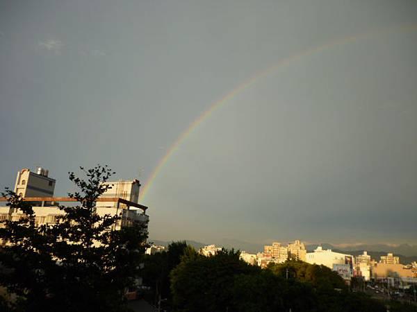 後陽台的彩虹
