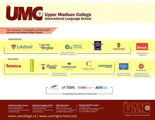 UMC Partner school list