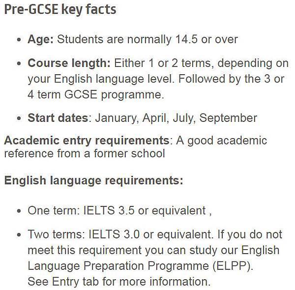 pre-GCSE